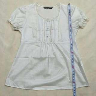 Net燈籠袖透膚襯衫 #100元上衣