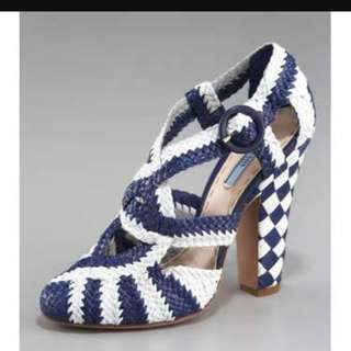 Prada Woven Sandals