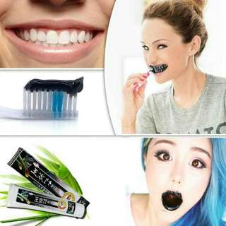 Activated Charcoal Teeth Whitening Mint Odor Toothpaste Destroys Bad Breath Mint Flavor Removes Coffee Stains