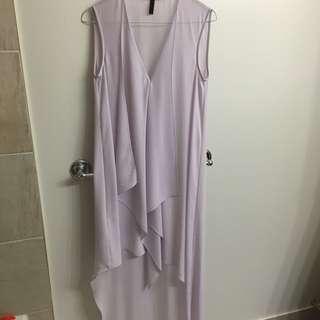 BCBG Lavender Asymmetric Dress