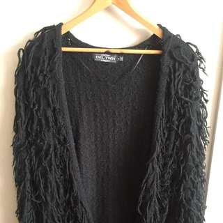 Evil Twin Wooly Black Cardigan Knit