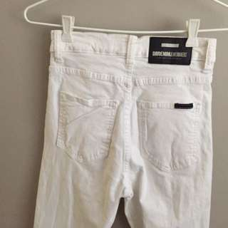 Dr Denim High Waisted White Jeans Size 9