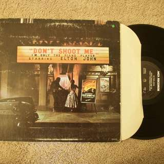 Elton John Don't Shoot Me I'm I Lu The Piano Player Vintage Rock Vinyl Record