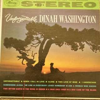 Dinah Washington Unforgettable Vintage Jazz Vinyl Record