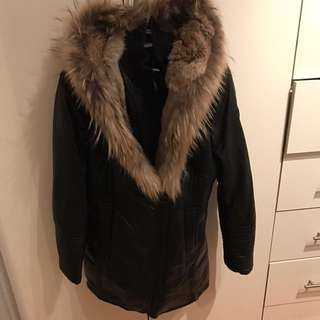 M Rusak Leather / Fur Jacket