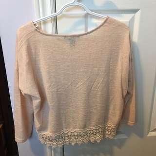 Forever 21 Lace-hemmed Shirt