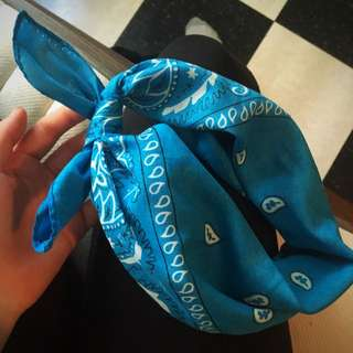 Bright Blue Bandana