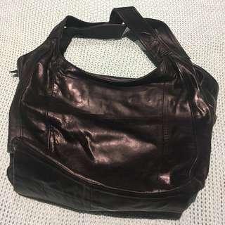 Black Leather Bag New