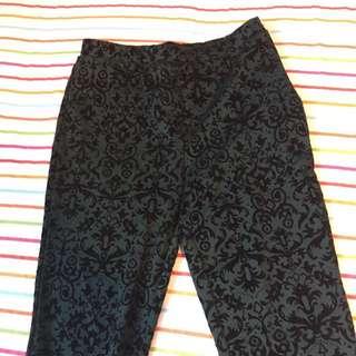 Forever 21 Velvet Ornate Leggings