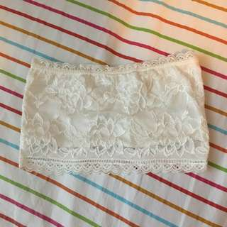 Lacy White Bandeau (free with any purchase)