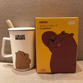WE BARE BEARS X MINISO Grizzly Ceramic Cup