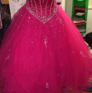 Pink Strap Ball Gown