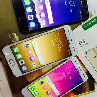 OPPO F3 (removal battery)  For only 4300 free pouch ledlight ringcase sim cordprotector case tempered