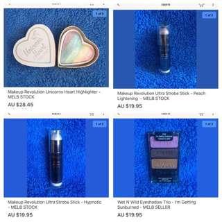 New Makeup Revolution And Wet N Wild Makeup In Stock Now