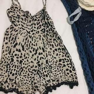 Kivari Leopard Print Playsuit