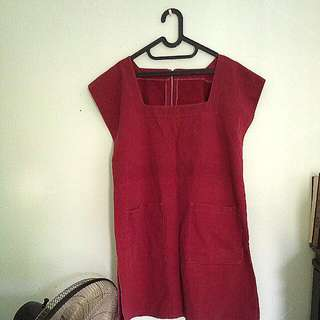 Outer Dress Jeans Red