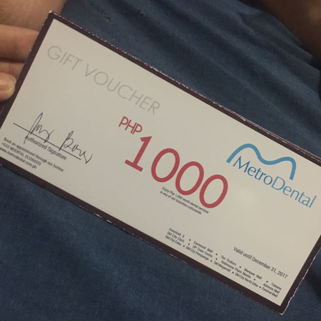 1000 Worth Gift Certificate at MetroDental