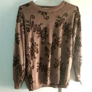 Vintage Dark Mauve Sweater