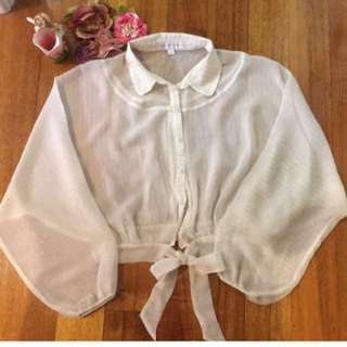 🌺Forevernew silk top with gold line very beutyful silk light,