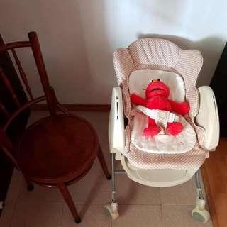 Baby Bassinet Cum High Chair