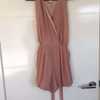Dusty Pink Chiffon Playsuit