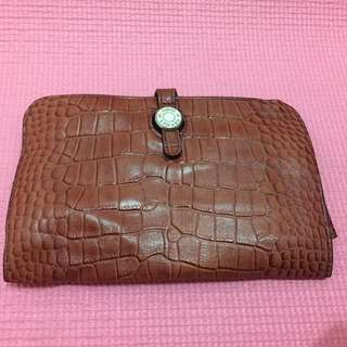 Hermes Dogon Leather Wallet Croco
