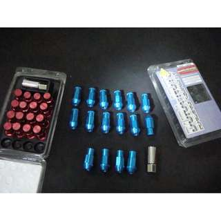 28829 - Rays racing nuts Red/Blue/Black Long Type 16pcs 1.5mm
