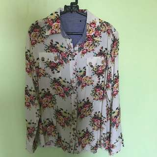 Floral Top White