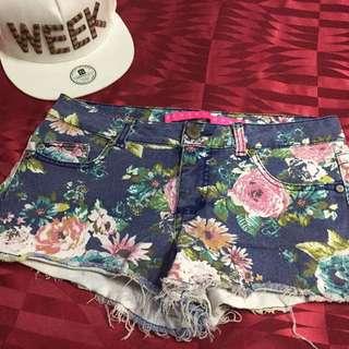 Floral Maong Shorts