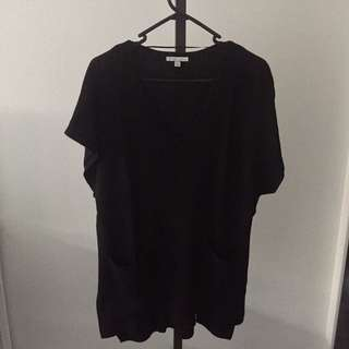 Black Knitted Shirt