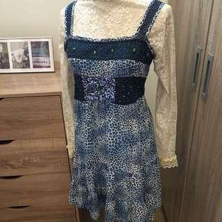 雪紡吊帶洋裝