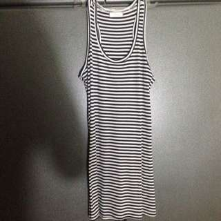 tank top mini dress stripes