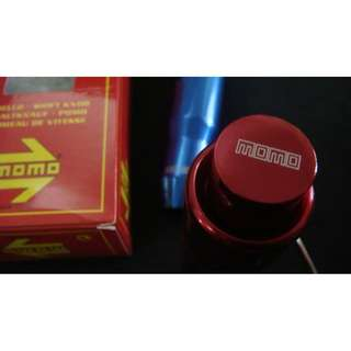 31025 - MOMO automatic transmission gear knob *red/blue/silver*