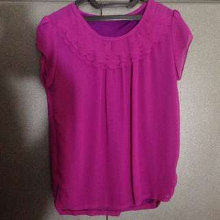 top atasan fuschia