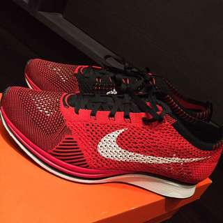Nike Flyknit Racer (Size 10) University Red