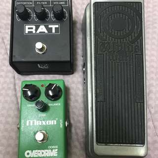Dunlop Zakk Wylde Wah,Proco Rat Distortion And Maxon OD808