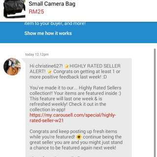 Thanks Carousell For Higher Rated!!💓💓💓💓