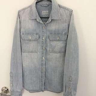 Zara Denim Shirt Size S ( Fits Size 8)
