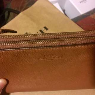 Brand New and Authentic Coach Wristlet (two pockets)