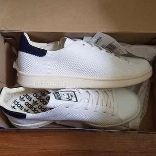 全新,Adidas Stan Smith OG primeknit 白 深藍 編織 奶油底 s75148,US7.5 版型偏大,平常穿US8可穿。