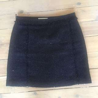 Michael Kors Black Boucle Skirt Size US4/AU8-10