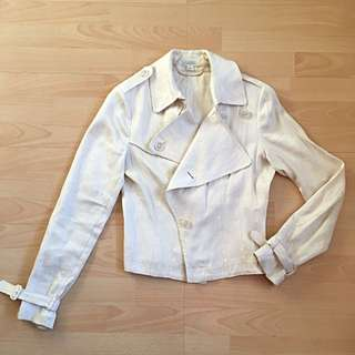 WITCHERY Linen Jacket Size 6