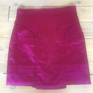 Size 8 CUE Magenta Mini Skirt