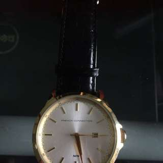 Pre-loved Fcuk Gold Watch
