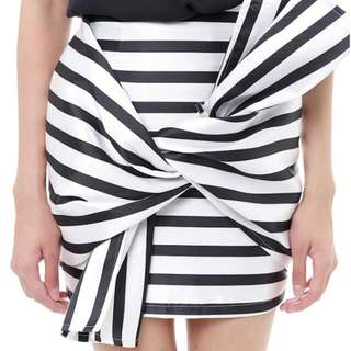 ♡Brand New♡ MDS Collection Stripped Bow Skirt