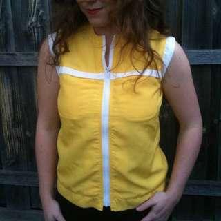 Vintage 80's 90's sleeveless vest jacket