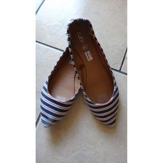 Rubi Striped Pointed Flats