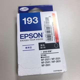 全新 EPSON 193 黑色墨水匣