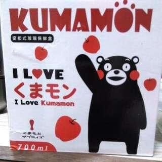 🚚 ★全新★KUMAMON密扣式玻璃保鮮盒700ml