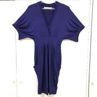 Zara V Neck Cotton Dress